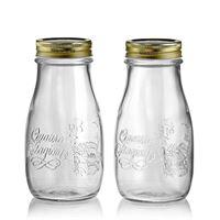 """400 ml husholdningsglas """"4 årstider"""", i klart glas, 2 stk."""