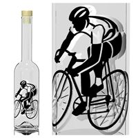 "500ml Opera-flaske ""Cykelrytter"""