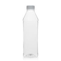"1000ml PET Weithalsflasche ""Milk and Juice Carree"" weiß"