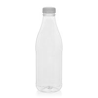 "1000ml PET Weithalsflasche ""Milk and Juice"" weiß"