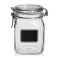 "1000ml swing top jar ""Rocco"" with label field"