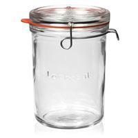 "1000ml vasetto in vetro con chiusura meccanica ""Lock-Eat"""