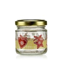 "100ml Christmas jar ""LUCKY X-MAS"" with twist off lid"