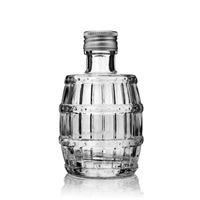 "100ml clear glass bottle ""barrel"""