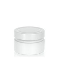 "119ml bianco vasetto in vetro designer ""Aurora"" bianco"