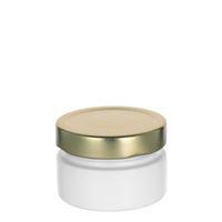 """119ml bianco vasetto in vetro designer """"Aurora"""" oro"""