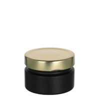 "119ml black design jar ""Aurora"", gold"