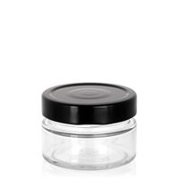 "119ml clear design jar ""Aurora"" black"