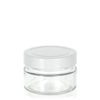 """119ml vasetto designer in vetro trasparente """"Aurora"""" bianco"""