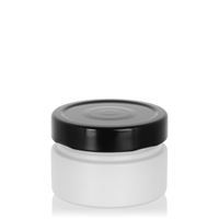 "119ml white design jar ""Aurora"", black"