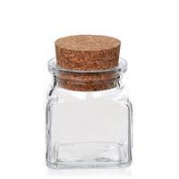 120ml tarro rectangular con corcho cónico