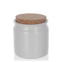 140ml ceramic pot white
