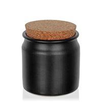 140ml sloik ceramiczny, matowa czern