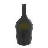 """1500ml antyczna zielona butelka na szampan/piwo """"Butterfly Magnum"""" z kapsel czarny"""