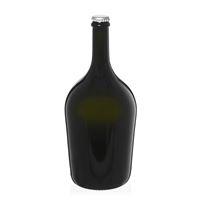 """1500ml bottiglia verde antica per spumante/birra """"Butterfly Magnum"""" tappo a corona argento"""