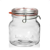 "1500ml vasetto in vetro con chiusura meccanica ""Lock-Eat"""