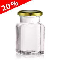 150ml rectanlage jar with Twist Off 53