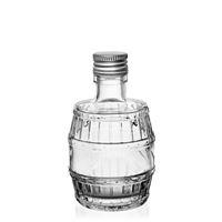 "200ml Klarglasflasche ""Fass"""
