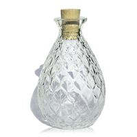 "200ml clear glass bottle ""Lucy"""