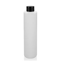 "200ml HDPE-fles ""Pipe"" natuur schroefdeksel zwart"