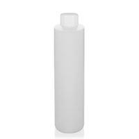 "200ml HDPE-flaska ""Pipe"" natur skruvlock vit"
