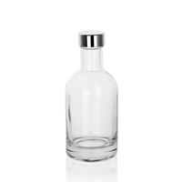 """200ml clear glass bottle """"First Class"""" with GPI screw cap"""