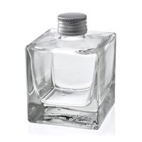 "200ml clear glass bottle with screw cap ""Cube"""