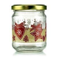 "200ml Christmas jar ""LUCKY X-MAS"" with twist off lid"