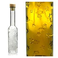 "200ml botella de vidrio con relieve ""Magia de estrellas"""