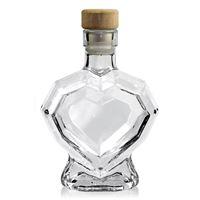 """200ml bottiglia in vetro chiaro """"Cuore diamante"""""""