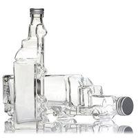 """200ml bouteille en verre clair """"camion"""""""