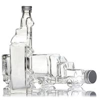 "200ml clear glass bottle ""Truck"""