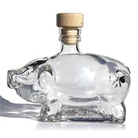 "200ml glass bottle ""lucky pig"""