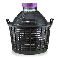 20 liter gistfles brede hals met plastic mand