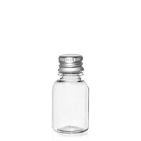 """20ml PET-Flasche-klar """"Easy Living"""" mit Aluminumverschl."""
