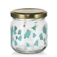 "212ml Christmas jar ""Ring, Little Bell"" mint green"