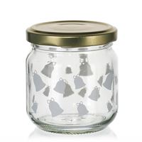 "212ml Christmas jar ""Ring, Little Bell"" white"