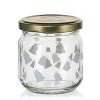 """212ml Christmas jar """"Ring, Little Bell"""" white"""
