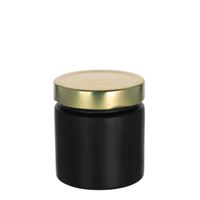 "220ml black design jar ""Aurora"", gold"