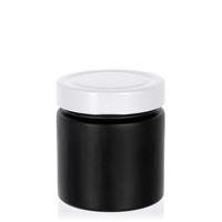 "220ml black design jar ""Aurora"", white"
