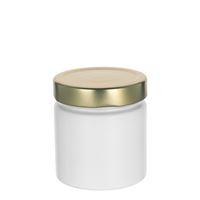 """220ml pot créateur """"Aurore"""" blanc, couv. doré"""