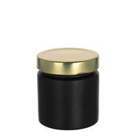 """220ml pot créateur """"Aurore"""" noir, couv. doré"""