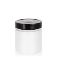 "220ml white design jar ""Aurora"", black"