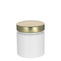 "220ml white design jar ""Aurora"", gold"
