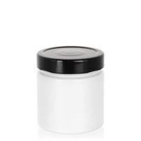 """220ml wit designer pot """"Aurora"""" zwart"""