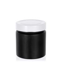 """220ml zwart designer pot """"Aurora"""" wit"""