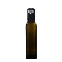"250ml Bottiglia verde antica per Olio-Aceto ""Quadra"" DOP"