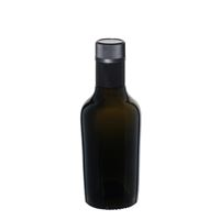 """250ml antiekgroene fles azijn-olie """"Oleum"""" DOP"""