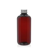 """250ml braune PCR-Flasche """"Victor's Best"""" mit Schraubverschluss PP24, silber"""