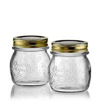 """250 ml hushållsburk """"4 säsonger"""", i klarglas, sats med 2 st."""
